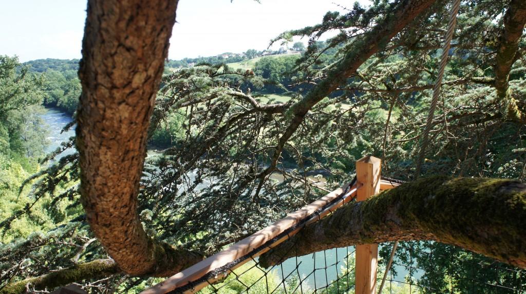 Vue depuis la terrasse de la cabane des aventuriers