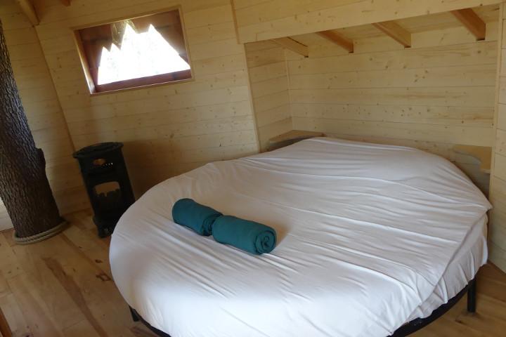 Romantique lit cabane